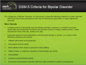 Bipolar Disorder – Diagnostic Interviewing for Manic Episode