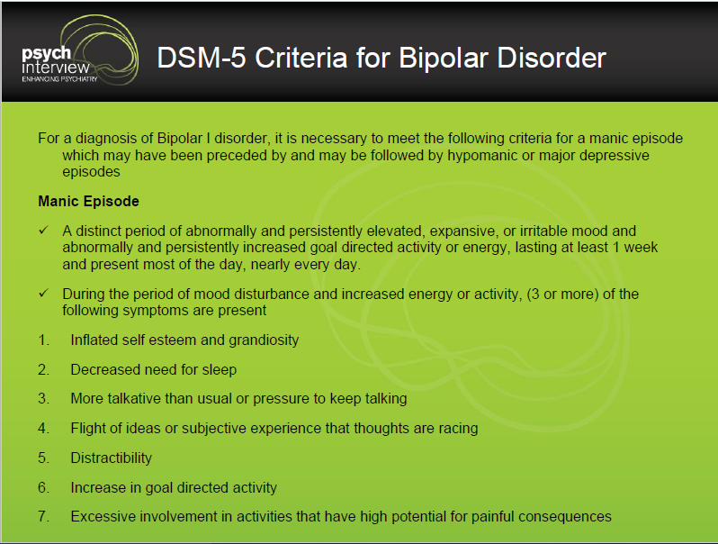 How to Diagnose Mania? - Bipolar Disorder Clinical Interview