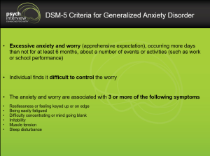 Generalized Anxiety Disorder – Diagnostic Interview