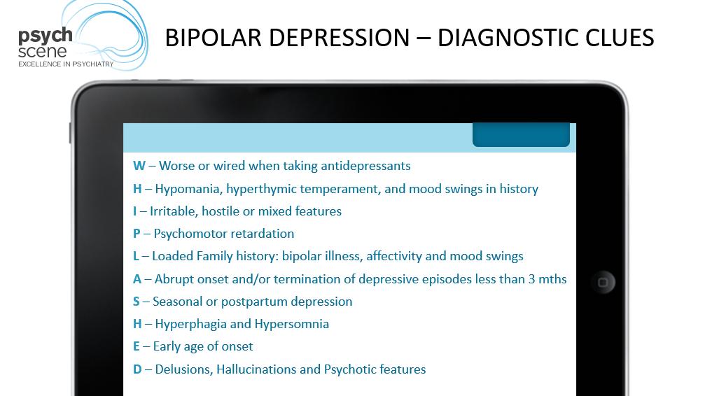 Bipolar Depression Diagnostic Clues