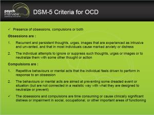 Obsessive Compulsive Disorder – Diagnostic Interview