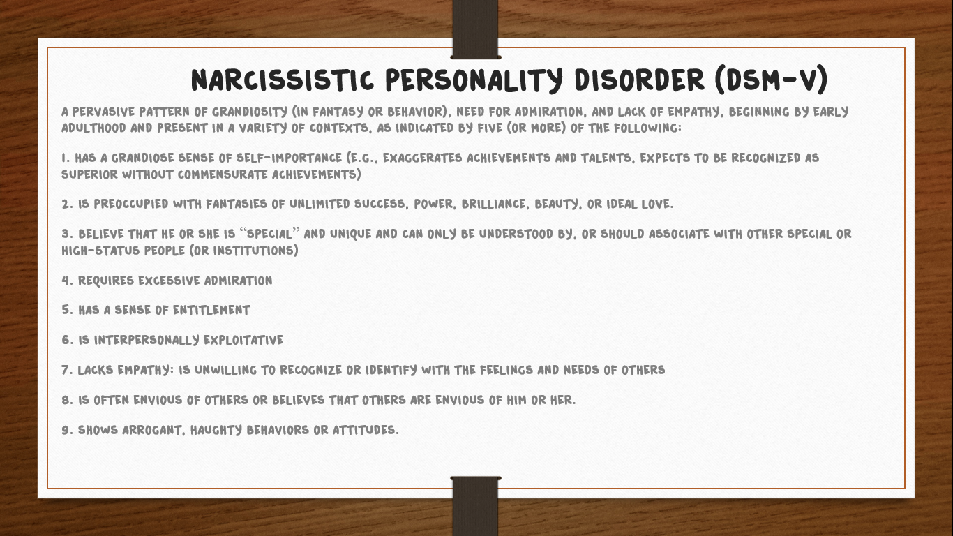 Narcissistic Personality Disorder