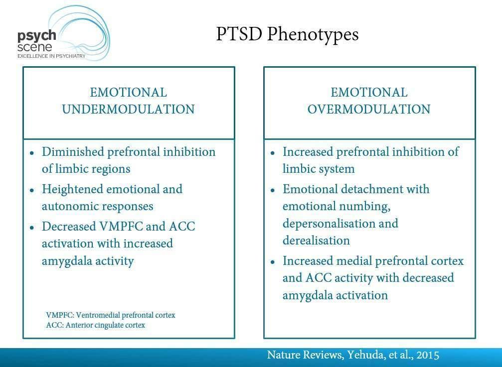 PTSD phenotypes
